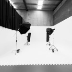 Photography Studio with curved plastering